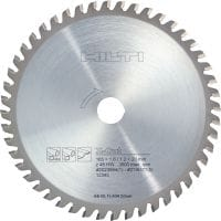Stainless and steel cutting Ultimate circular saw blade for straight, faster, cold cutting in steel and stainless steel