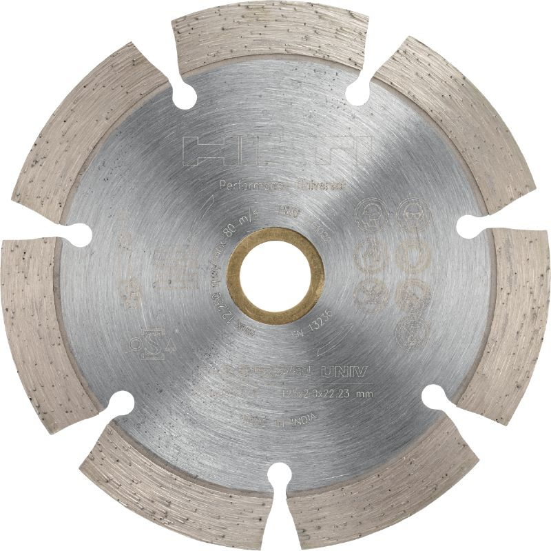 P Universal diamond blade Diamond blade for cutting in different base materials