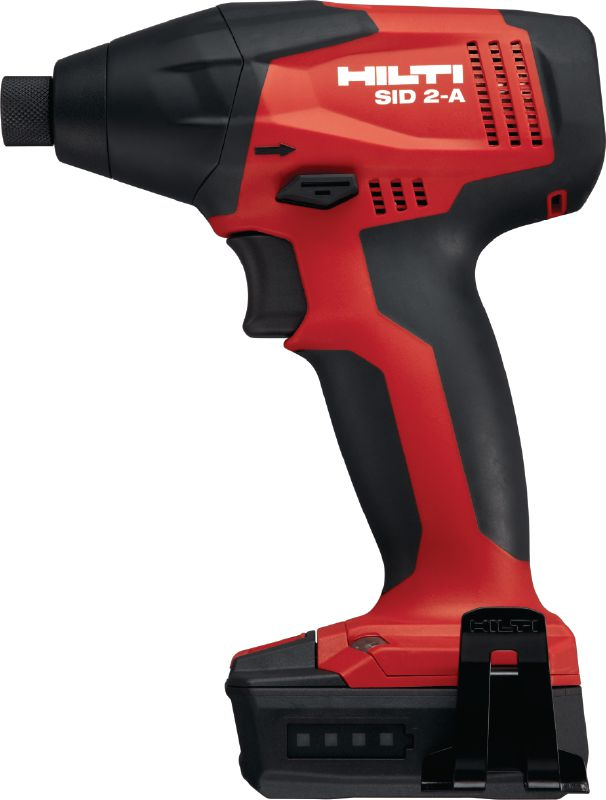SID 2-A Subcompact cordless impact driver powered by a 12 V Li-ion battery with 1/4'' hexagonal chuck for light-duty applications